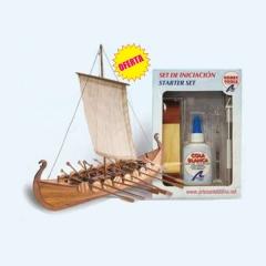 Maqueta naval viking 1:75 mas set de iniciacion