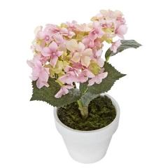 Plantas artificiales con flores. planta hortensia artificial rosa 21 en lallimona.com