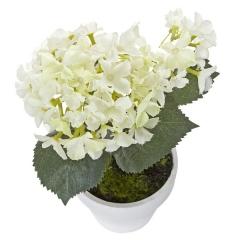 Plantas artificiales con flores. planta hortensia artificial blanca 21 en lallimona.com (1)