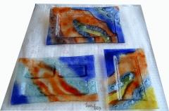 Bandejas vidrio fundido, fusing