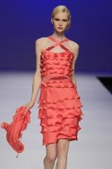 Vestido gasa de seda con bordado Swarovski