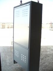 Armario prefabricado de hormigon,  se utiliza para alojar equipos de medida: contador de luz, agua,g