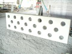 Pieza prefabricada de hormigon dise�ada para barandilla de escalera