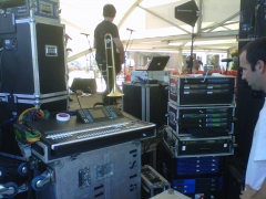 Control sonido en escenario