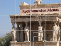 Cuadro apartamentos atenas. rótulo ideal para edificios.
