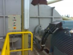 Motor el�ctrico circulaci�n gases.