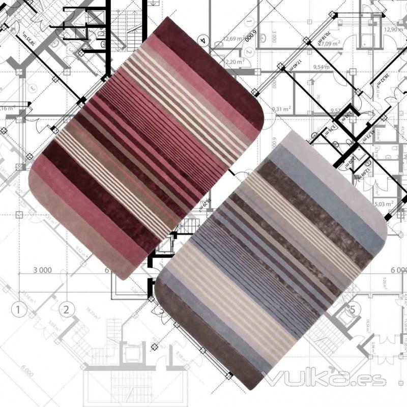 Foto alfombras modernas a rayas otis pi y gy de pablo - Alfombras pablo paniker ...