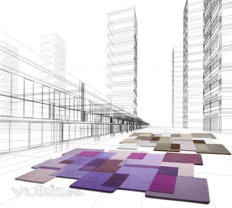 Foto alfombras modernas a cuadros milo pu y be de for Imagenes alfombras modernas