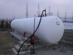 Deposito de gas aereo, industrias y grandes consumos