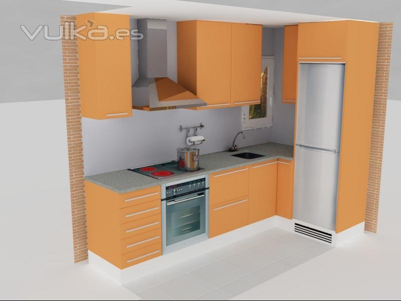 Foto: Diseño 3D de cocina realizada
