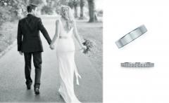 Alianzas de boda en oro blanco & diamantes