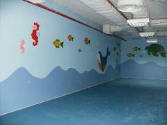 Vista de mural en parque polar & brincar de viseu (portugal).