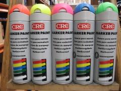 Botes de pintura de marcaje fluorescente crc.