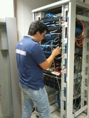 Instalacion de red; interconexionado armario rack