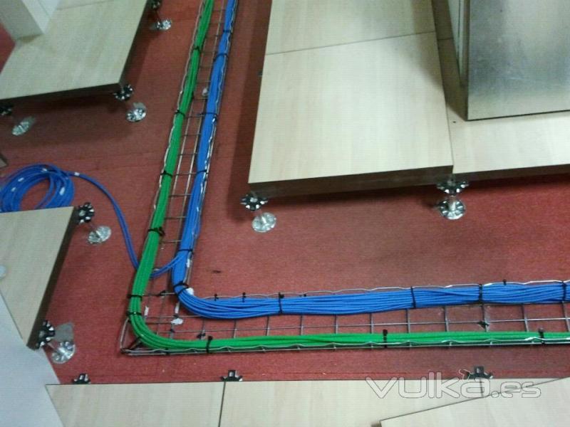 Foto instalacion de red de cat 6 mediante rejiband - Instalacion de electricidad ...
