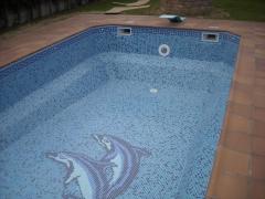 Detalle gresite piscina de obra