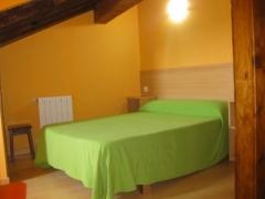 Zona de dormitorio del estudio para dos personas