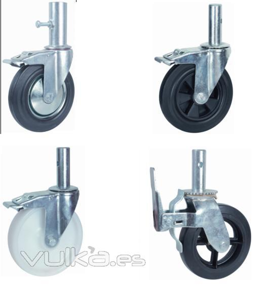 Foto ruedas para andamios tambi n disponemos regulables - Ruedas para mobiliario ...