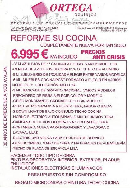 Jose ortega robles azulejos ortega valencia valencia for Presupuestos de cocinas baratas