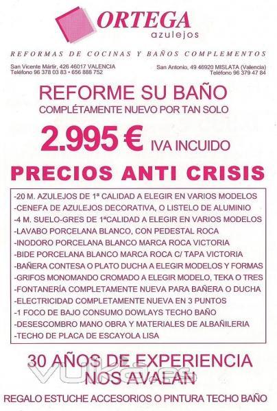 Jose ortega robles azulejos ortega mislata valencia for Presupuesto bano nuevo
