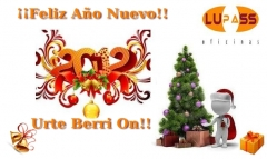 Desde lupass oficinas os deseamos un feliz año nuevo 2012!! que sea prospero y productivo para todos
