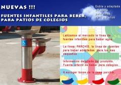 Fuentes de agua para colegios infantiles