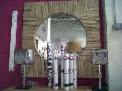 Espejo en cebrano
