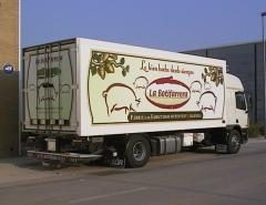 Rotulaci�n integral caja camion la botifarrera - vinilo impreso laminado