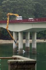 Maquinaria de inspecci�n de puentes.