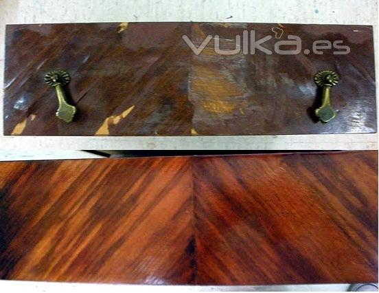 Foto restauracion de muebles chapas de madera - Restauracion de muebles de madera ...