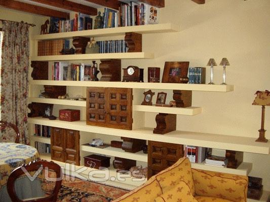 Boiseries y muebles a medida fabritecma for Muebles librerias modernas