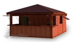 Chiringuito modular desmontable de playa