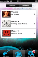 Aplicación para android e iphone de rock in rio madrid