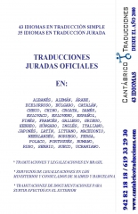 Ingl�s, franc�s, portugu�s, rumano, ruso, chino, �rabe, alem�n, italiano, holand�s, turco, checo...
