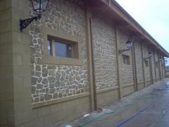 Bodega castillo de cuzcurrita. detalle trasera edifico depositos