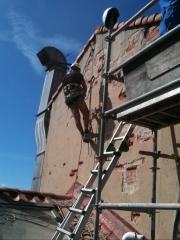 Reparacion de fachada colgados verticales