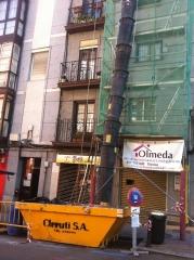 Trabajo de reparacion de fachada