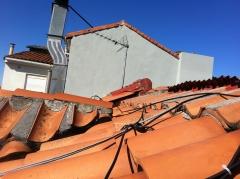 Trabajo de reparacion de fachada y chimenea nueva con exito
