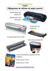 Máquinas de oficina al mejor precio en www.consumiblesa3f.com