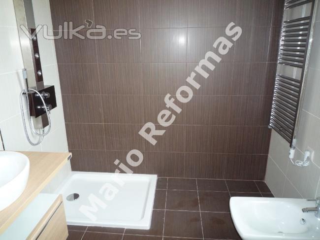 Reforma Baño A Ducha:Foto: Reforma baño con ducha de acrilico al ras del suelo