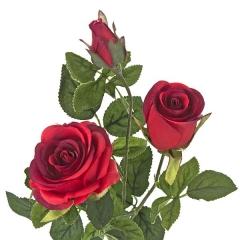 Flores artificiales. rama rosas artificiales rojas 68 en lallimona.com