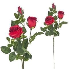Flores artificiales. rama rosas artificiales rojas 68 en lallimona.com (2)