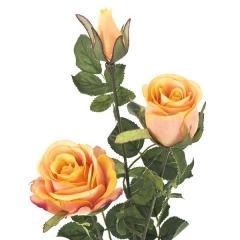 Flores artificiales. rama rosas artificiales naranjas 68 en lallimona.com