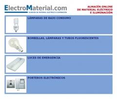 lampara de bajo consumo, incadescente, fluorescente, descarga, emergencia, portero electronico