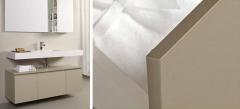 Mobiliario de baño dica modelo zero tacto camel y tacto blanco