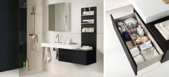 Mobiliario de baño dica modelo zero wengue