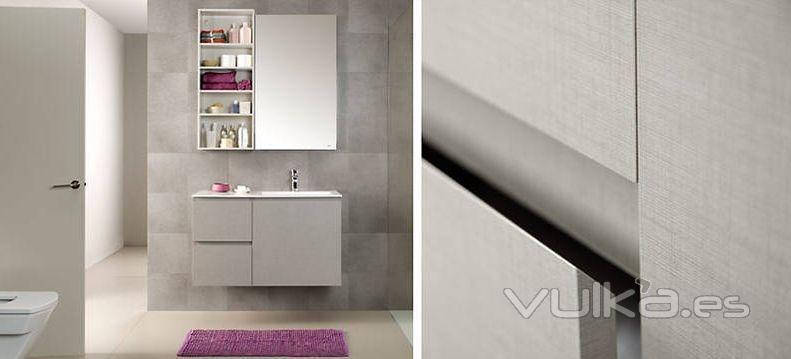 Foto mobiliario de ba o dica modelo zero lino natural y - Modelos de baldosas para banos ...