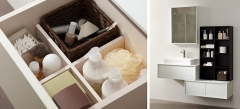 Mobiliario de ba�o dica modelo vita nata y roble wengue
