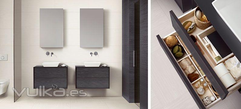 Foto mobiliario de ba o dica modelo dinker 80 8 negro y for Mobiliario 8 80