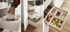 Detalle mobiliario de cocina dica modelo serie 45 blanco